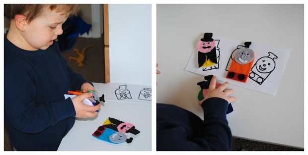 Thomas & Friends Felt Finger Puppet Tutorial @ Crayon Box Chronicles