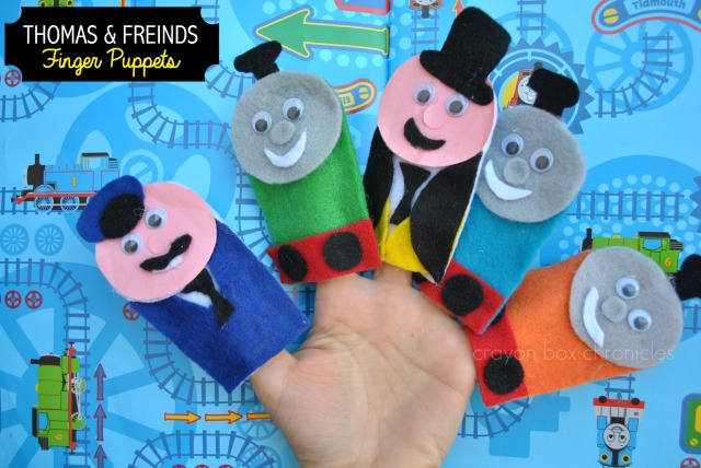 Thomas & Friends Felt Finger Puppet Tutorial by Crayon Box Chronicles