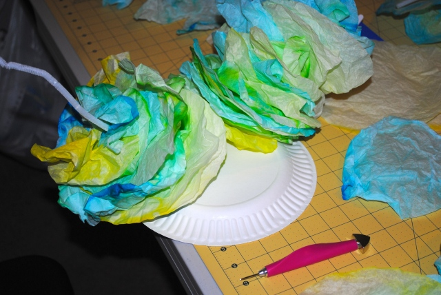 making sea coral out of coffee filters