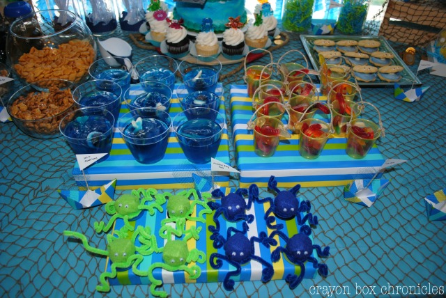 Dessert Tabel for Under The Sea Party @ Crayon Box Chronicles