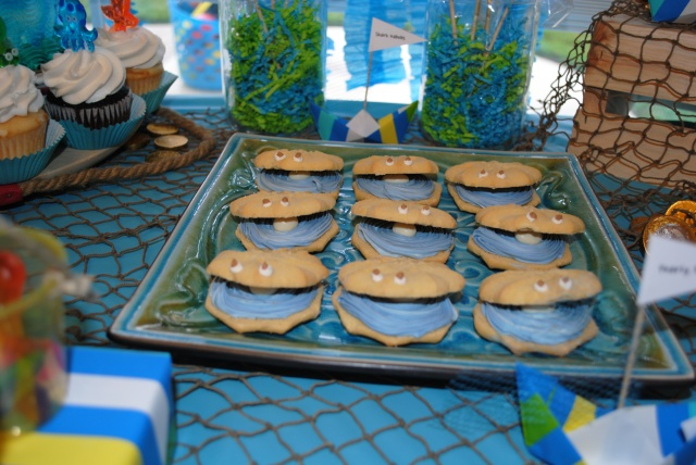 Pearly Bite Cookies - Under The Sea Birthday Party @ Crayon Box Chronicles