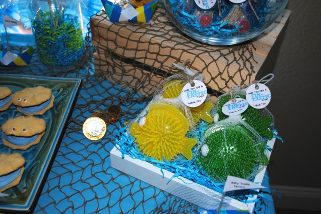 Baby Favors - Under The Sea Birthday Party @ Crayon Box Chronicles
