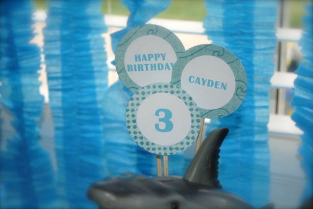 Cake Topper - Under The Sea Birthday Party @ Crayon Box Chronicles
