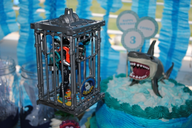 Scuba Diver & Shark Cake - Under The Sea Birthday Party @ Crayon Box Chronicles