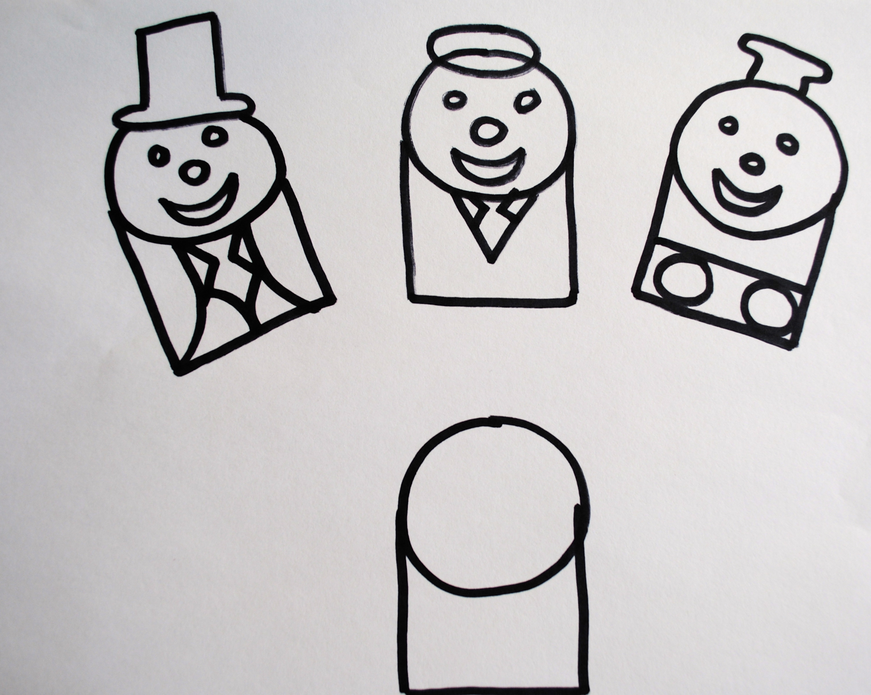 how to draw thomas the train face