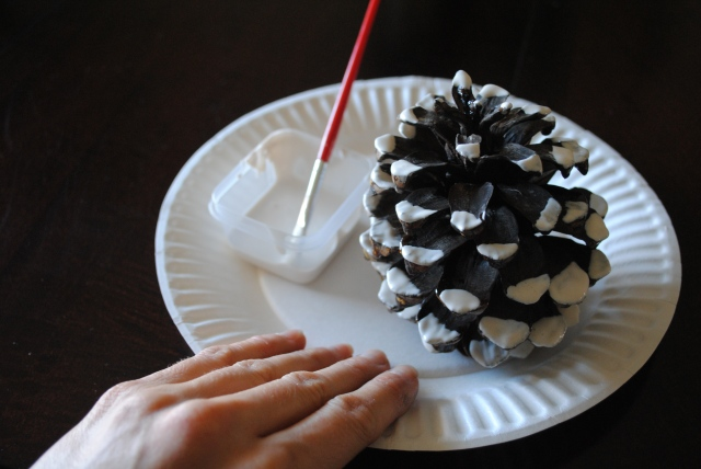 Saber-Toothed Squirrel Pine Cone Craft @ Crayon Box Chronicles