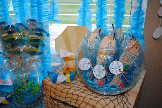 Jr. Scuba Favors - Under The Sea Birthday Party @ Crayon Box Chronicles