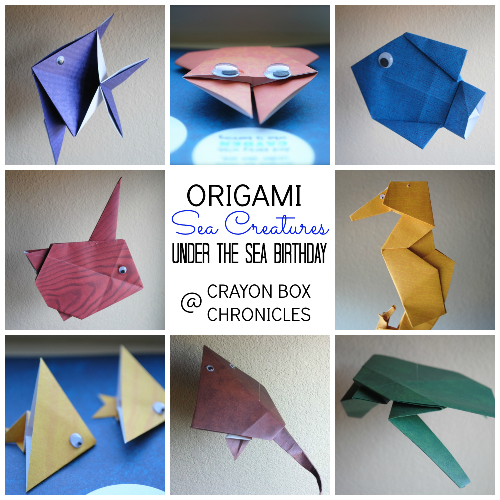 origami sea creatures crayon box chronicles