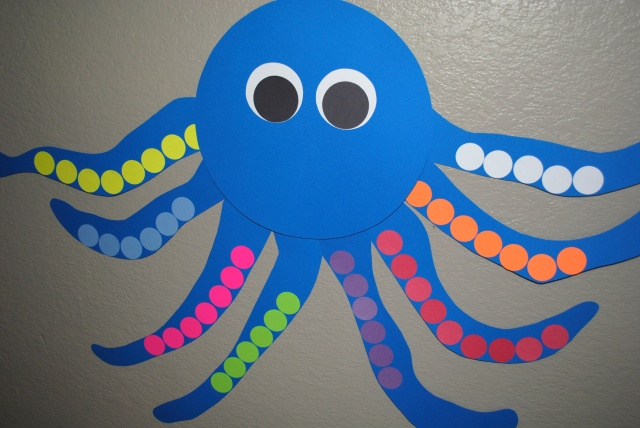 Pin-the-leg on the octopus game @ Crayon Box Chronicles