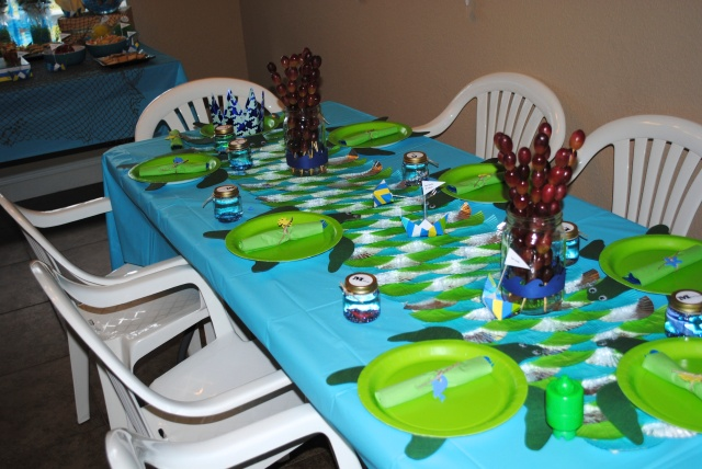 Kids Seating - Under The Sea Birthday Party @ Crayon Box Chronicles