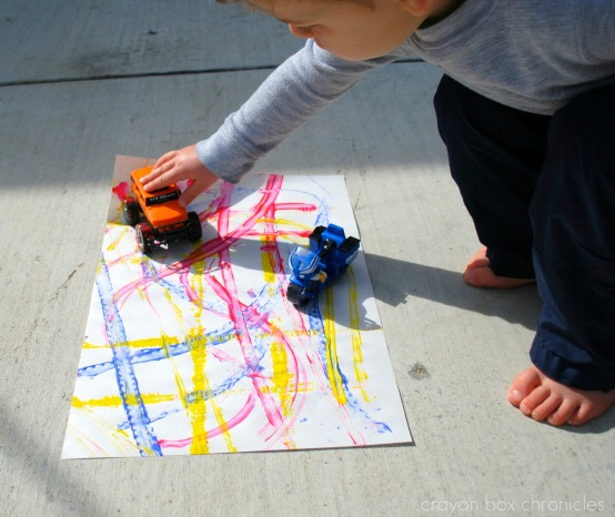Track Painting by Crayon Box Chronicles