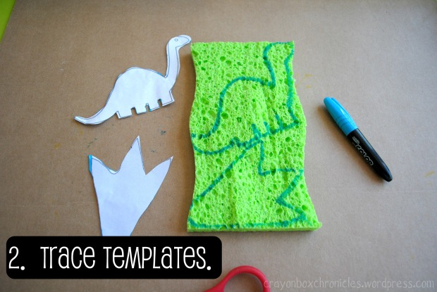 Dinosaur Sponge Paper @ Crayon Box Chronicles