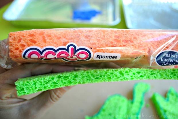 Dinosaur Sponge Paper @ Crayon Box Chronicles