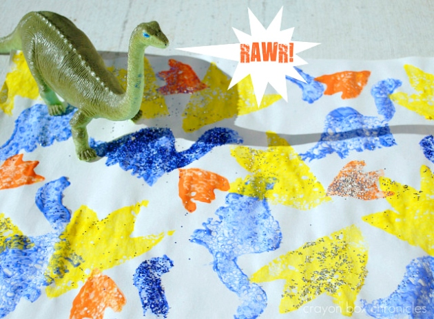 Dinosaur Sponge Paper by Crayon Box Chronicles