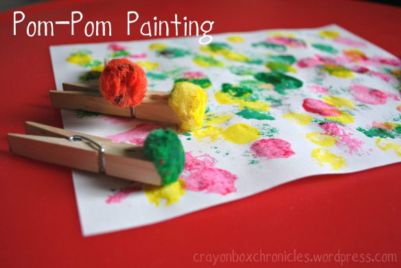 http://crayonboxchronicles.com/2013/05/14/pom-pom-painting/