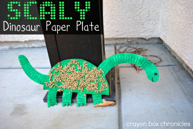 Dinosaur Paper Plate by Crayon Box Chronicles