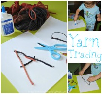 Yarn Tracing Challenge by Crayon Box Chronicles
