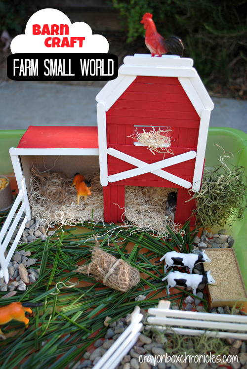 Farm Small World With Barn Craft Crayon Box Chronicles