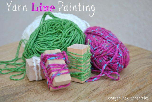 Yarn Line Painting @ Crayon Box Chronicles