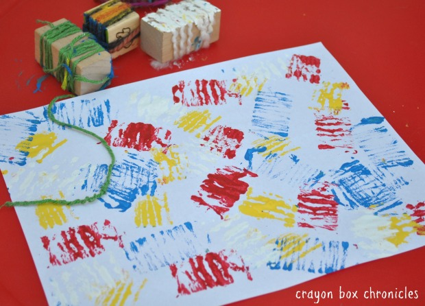 Yarn Line Painting @ Crayon Box Chronicles