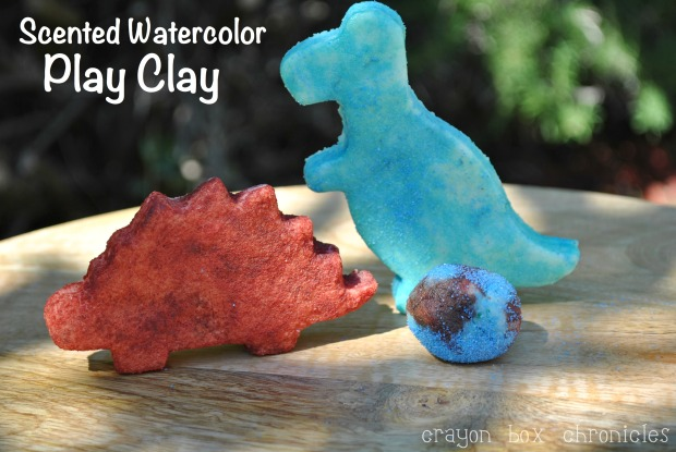 Scented Watercolor Dino Play Clay @ CrayonBox Chronicles