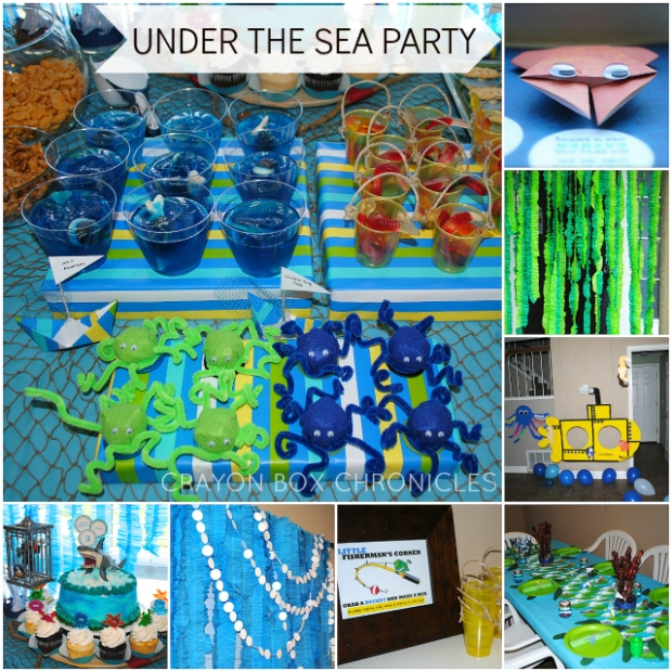 Under The Sea Birthday Party - made from different forms of paper by Crayon Box Chronicles