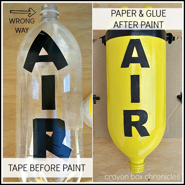 AIR label for fireman air tank