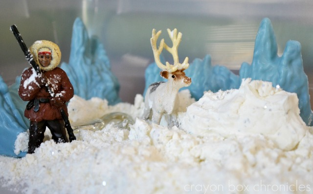 Arctic Snow Dough Small World by Crayon Box Chronicles