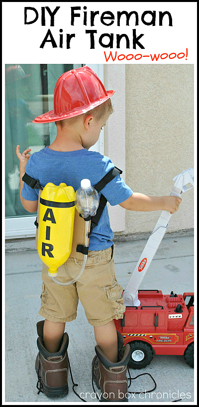 DIY Fireman Air Tank for dress-up