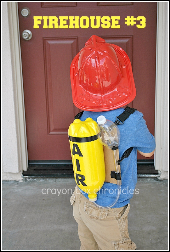 DIY fireman air tank for pretend play