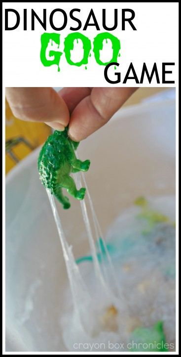 Dinosaur Goo Game with flash cards by Crayon Box Chronicles