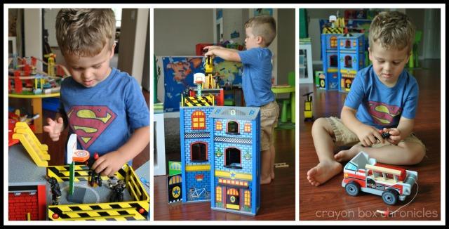 DIY Fireman Air Tank & Pretend Play @ Crayon Box Chronicles