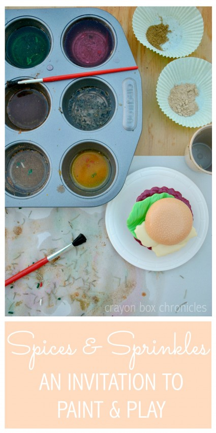 Invitation to Paint and Play with Spices and Sprinkles by Crayon Box Chronicles