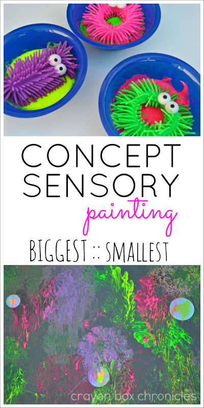 Concept Sensory Painting by Crayon Box Chronicles (Contributor Post @ All For The Boys)