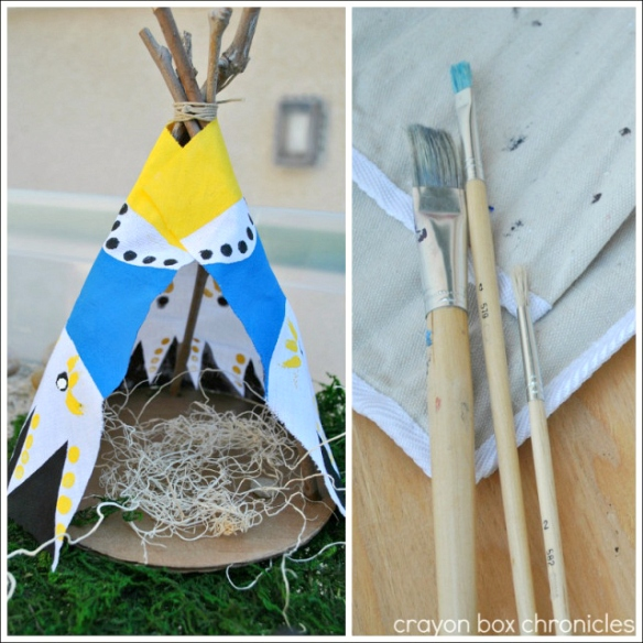 DIY Stick Teepee