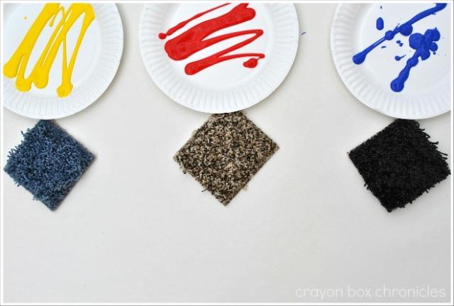 Carpet Sample Painting @ Crayon Box Chronicles