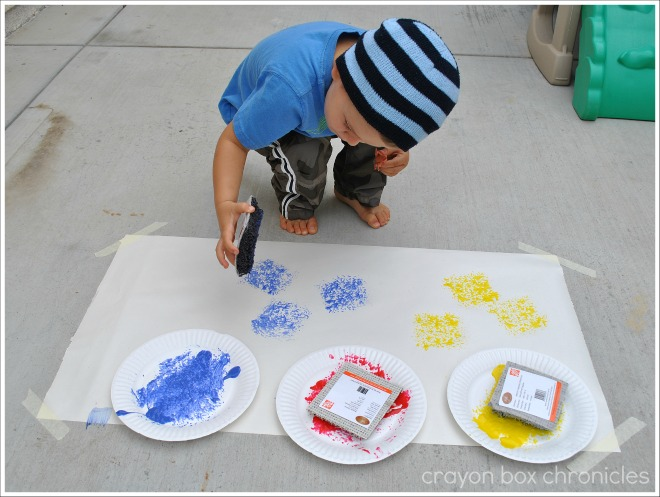 Carpet Square Painting Amp Sensory Board Crayon Box Chronicles