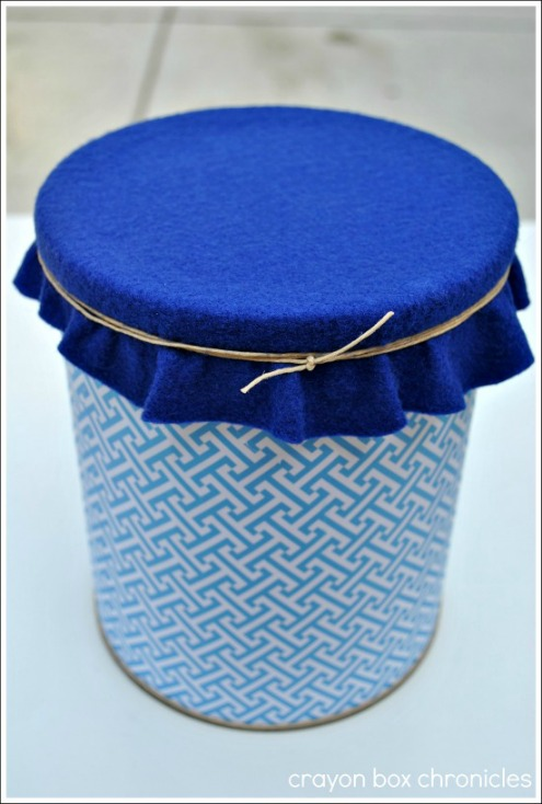 Homemade Drum Craft by Crayon Box Chronicles