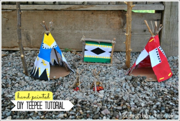 DIY Teepee by Crayon Box Chronicles
