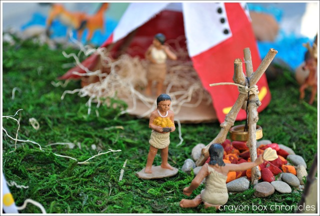 Native American Small World Play @ Crayon Box Chronicles