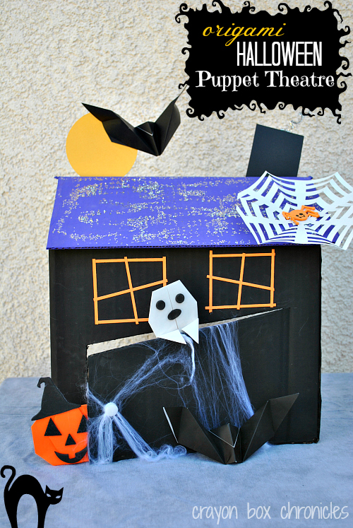Origami Halloween Puppet Theatre by Crayon Box Chronicles