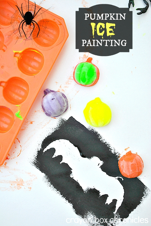 pumpkin ice painting for kids