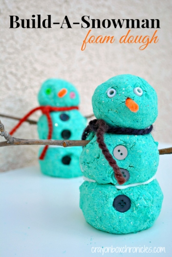 Build-A-Snowman Foam Dough by Crayon Box Chronicles
