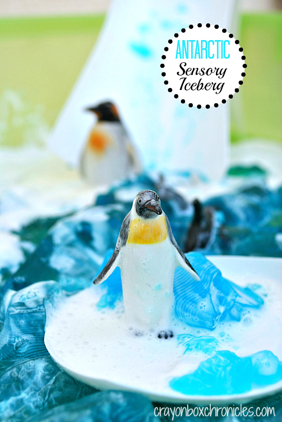 Antarctic Sensory Iceberg & Small World Play by Crayon Box Chronicles