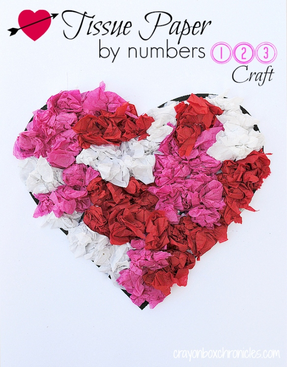 Heart Tissue Paper by NumberCraft for Kids by Crayon Box Chronicles