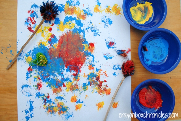 pom pom art activity for kids