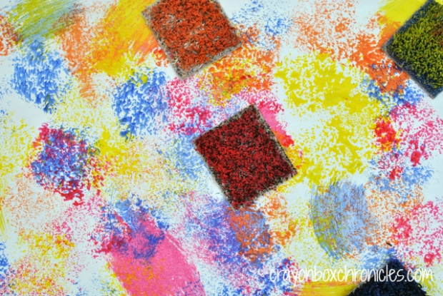 Carpet Square Painting & Sensory Board by Crayon Box Chronicles