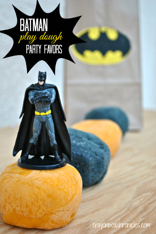 Batman Play Dough Party Favors by Crayon Box Chronicles