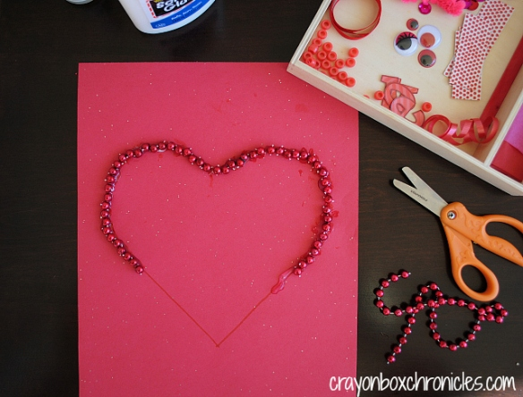 Heart loose parts activity by Crayon Box Chronicles
