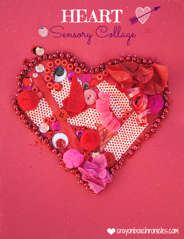 Schön Heart Valentine Sensory Collage By Crayon Box Chronicles